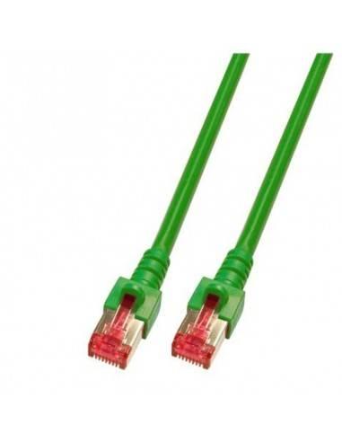 RJ45 Patch cable S/FTP, Cat.6, LSZH, green  - 1