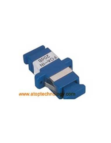 Fiber optic attenuator 10 dB, Single mode, SC Female - SC Female Simplex Adapter  MegaF - 1