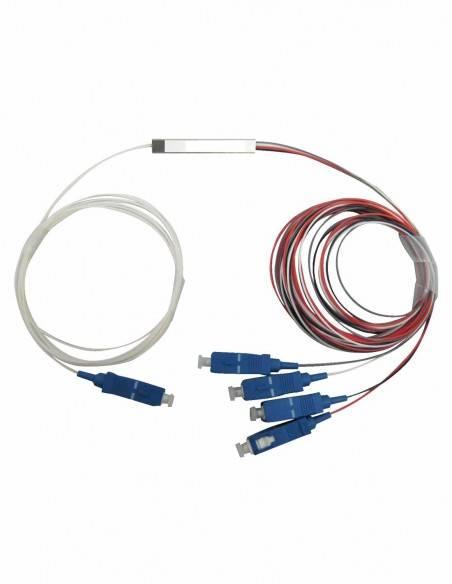 PLC fiber optic splitter 1x4 SC Connectors MegaF - 2