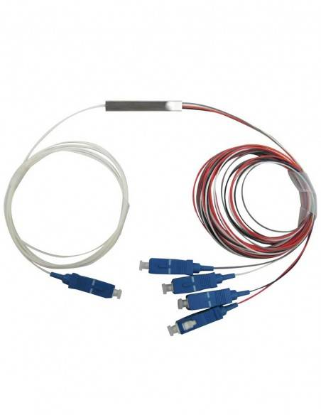 PLC fiber optic splitter 1x4 SC Connectors MegaF - 6