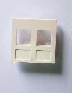 Faceplate 45x45 mm 2xRJ45