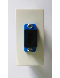 Faceplate 22.5x45 mm for 1...