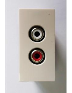 Faceplate 22.5x45 mm audio...